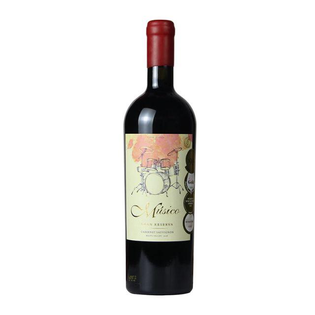 智利邁坡谷Musico酒莊音樂家架子鼓赤霞珠紅葡萄酒紅酒