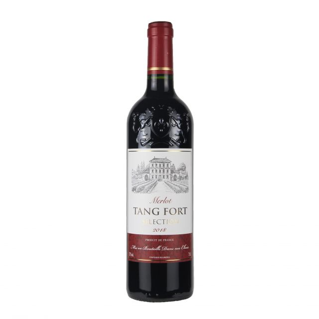 法国波尔多唐堡精选梅洛干红葡萄酒红酒