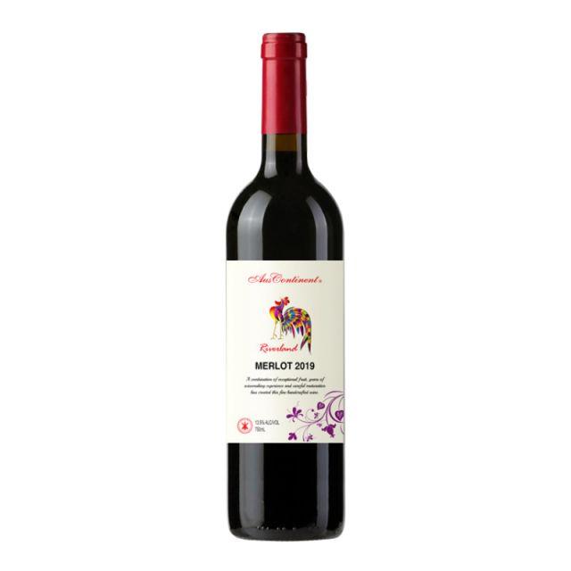 澳大利亞南澳澳洲大陸酒莊梅洛紅葡萄酒紅酒