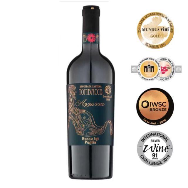 意大利普里亚百年纪念干红葡萄酒红酒