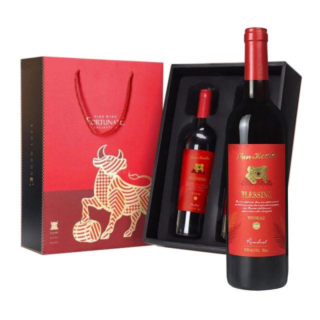 澳大利亞河地陽光考拉Blessing祝福西拉半干紅葡萄酒