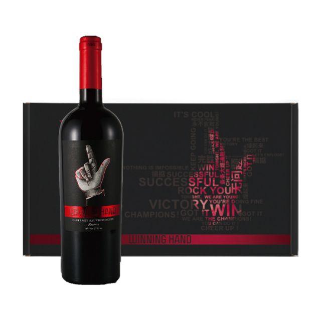 智利库里科谷凯旋之手珍藏赤霞珠干红葡萄酒红酒