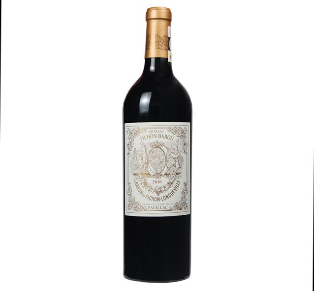 法國波爾多波亞克男爵酒莊干紅葡萄酒紅酒2016