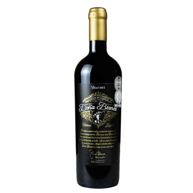 智利兰佩谷DONA BIANCA安卡夫人家族赤霞珠红葡萄酒红酒