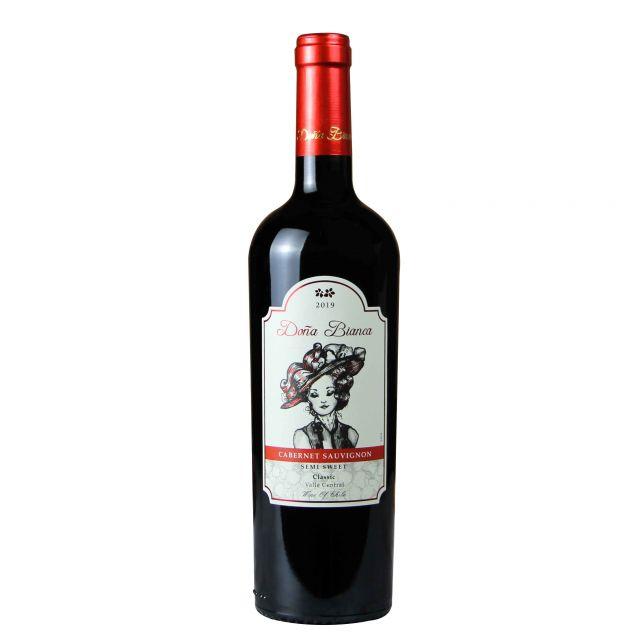 智利中央山谷DONA BIANCA安卡夫人经典赤霞半甜红葡萄酒