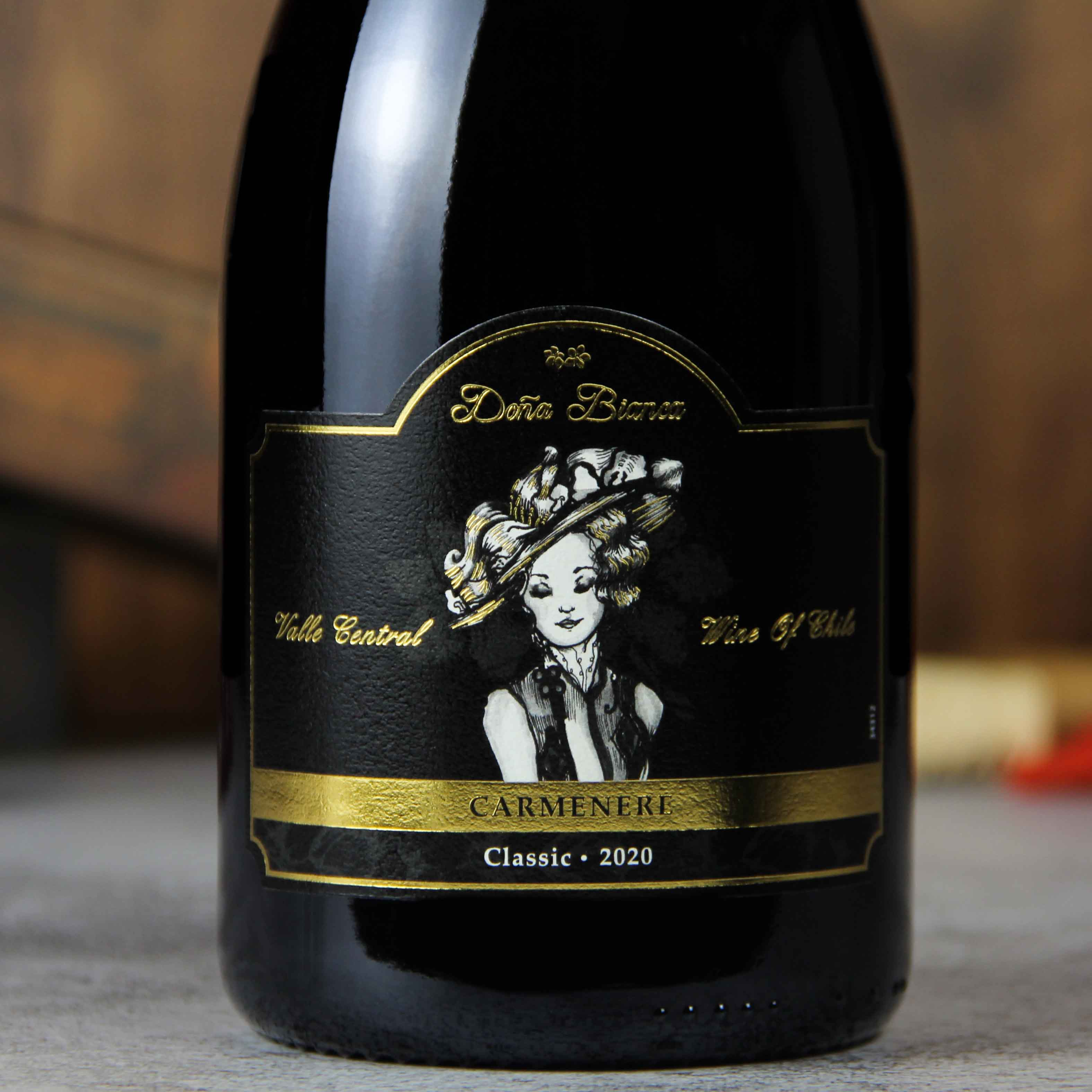 智利中央山谷DonaBianca酒庄安卡夫人佳美娜经典干红葡萄酒