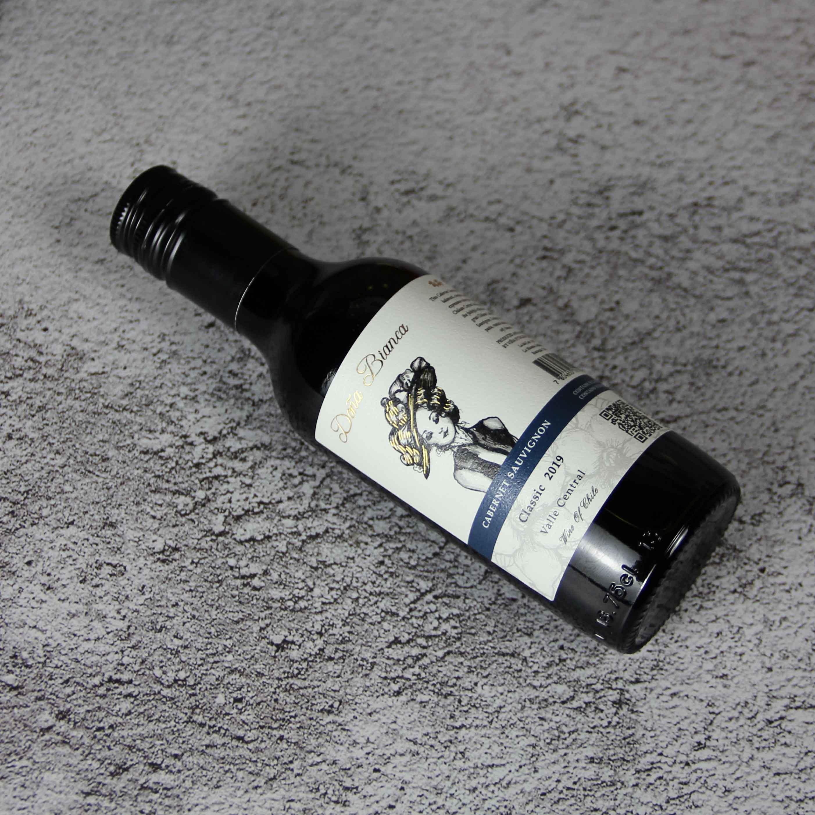 智利中央山谷DonaBianca酒庄安卡夫人赤霞珠经典干红葡萄酒187ml