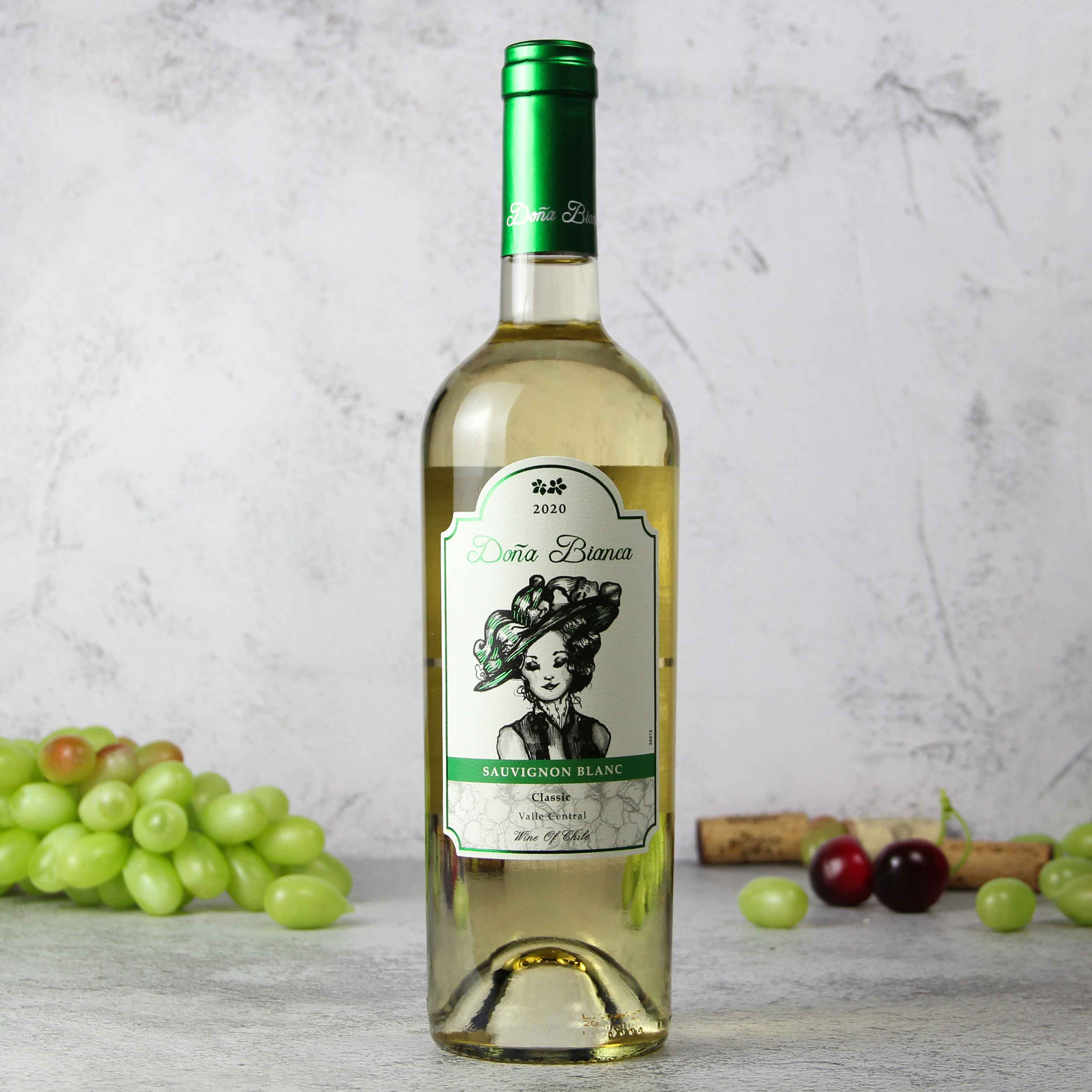 智利中央山谷DonaBianca酒庄安卡夫人长相思经典干白葡萄酒