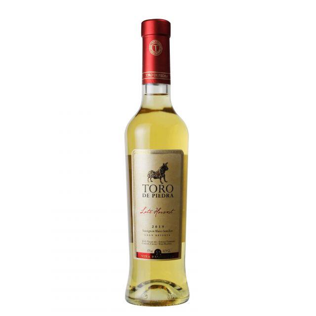 智利巨石牛特级珍藏晚摘甜白葡萄酒