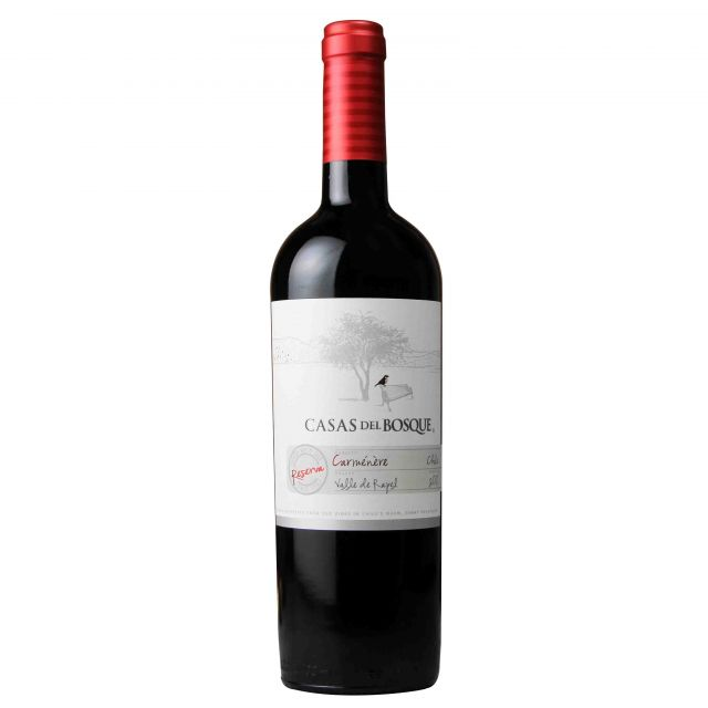 智利兰佩谷卡萨伯斯克珍藏佳美娜红葡萄酒红酒