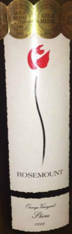 罗斯蒙特橙葡萄园西拉1997