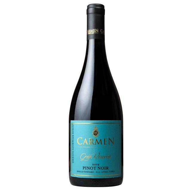 智利莱达山谷卡乐门格兰珍藏黑皮诺红葡萄酒