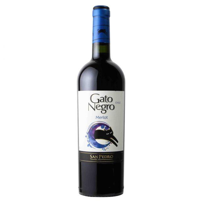 智利中央山谷黑猫梅洛红葡萄酒红酒