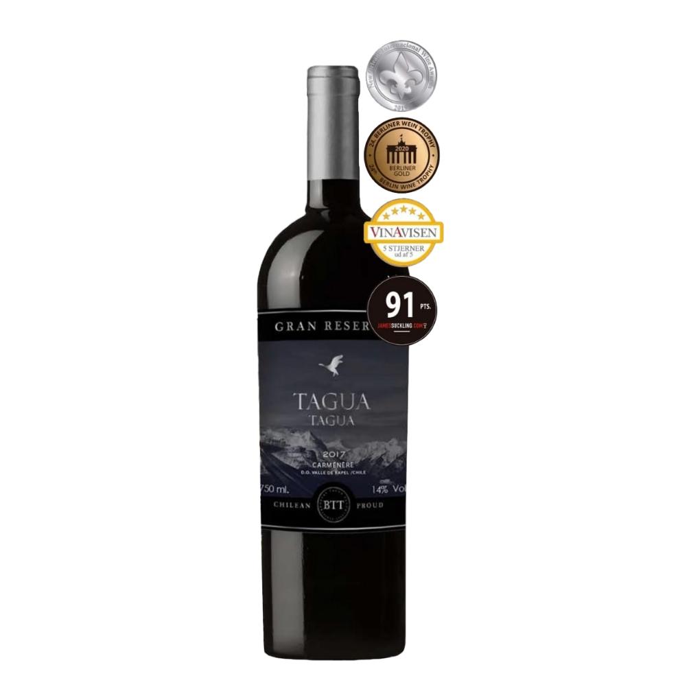 智利兰佩谷塔古亚特级珍藏佳美娜红葡萄酒