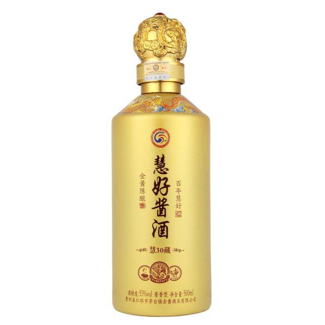 中国贵州茅台镇慧好酱酒黄金酱香型白酒