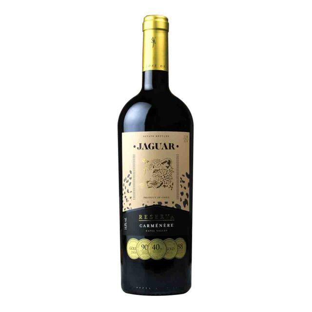 智利拉佩尔谷美洲虎珍藏佳美娜干红葡萄酒红酒