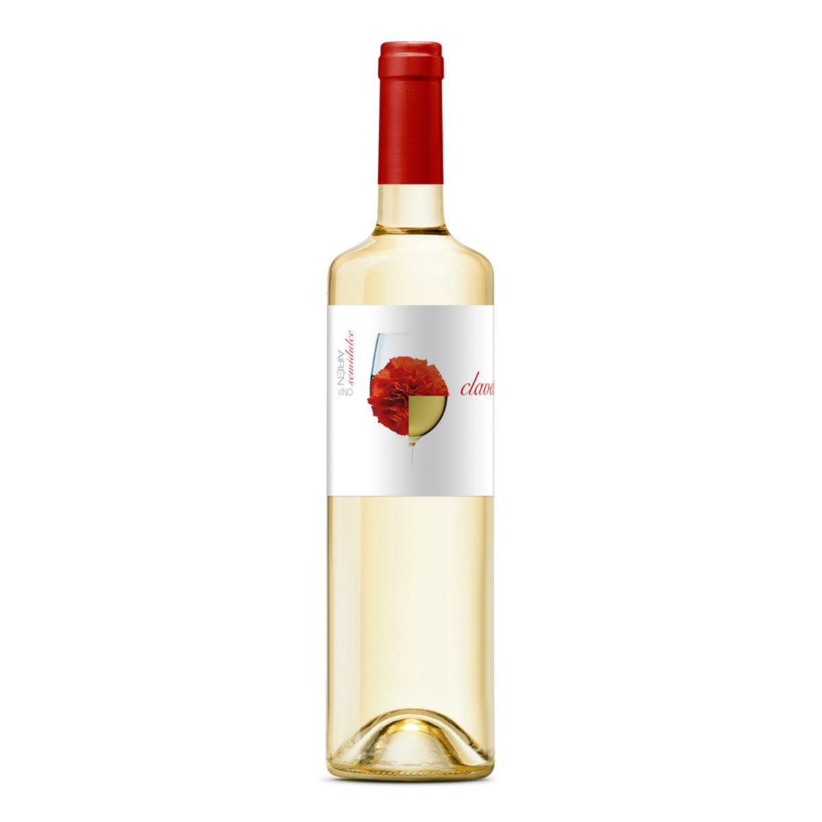 西班牙CLAVELITO爱人半甜干白葡萄酒