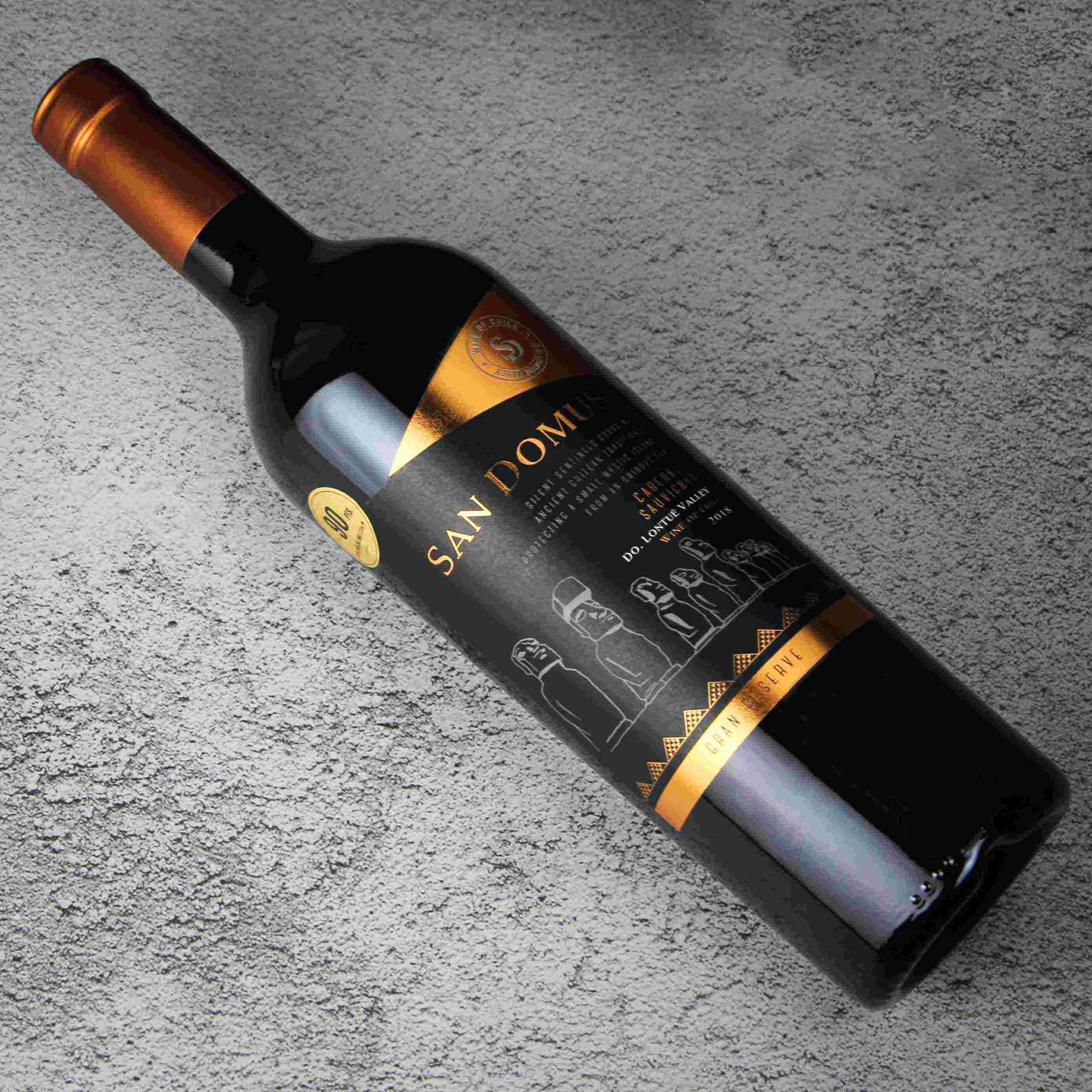 智利金纳斯家族酒庄隆图河谷圣多沐斯特藏赤霞珠干红葡萄酒
