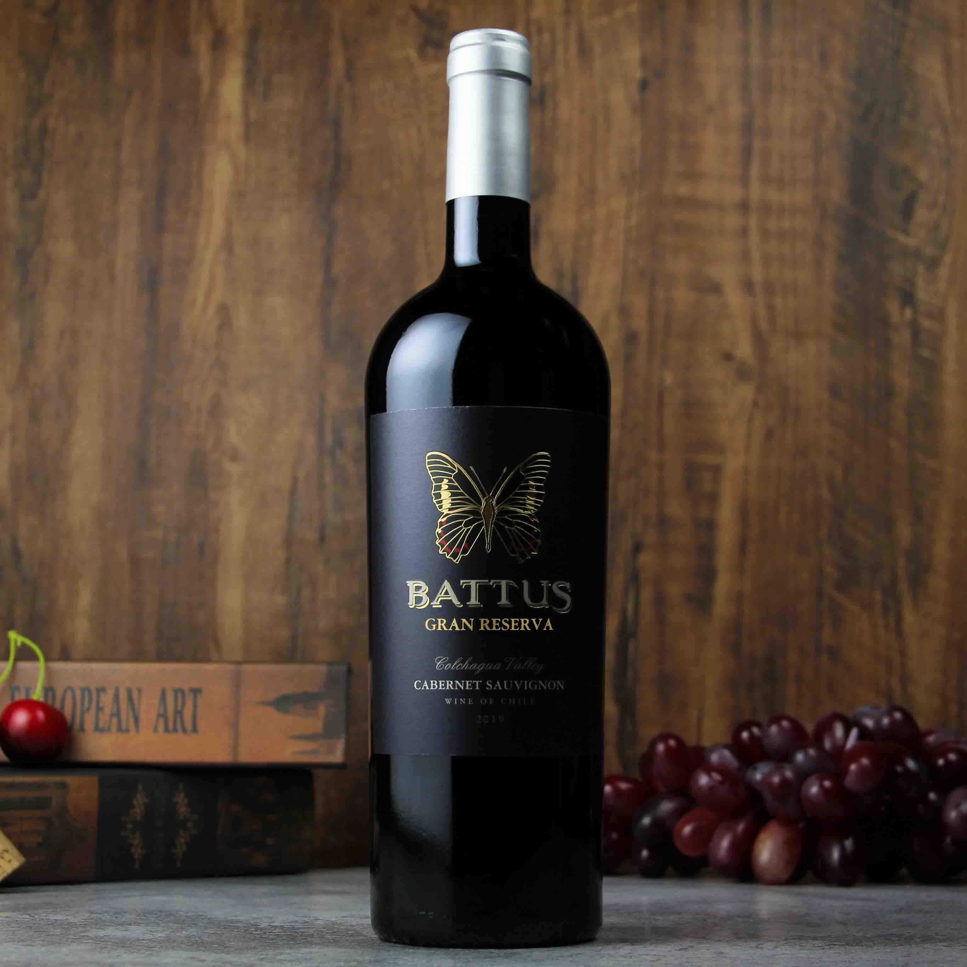智利科查瓜谷巴图斯特级珍藏赤霞珠红葡萄酒